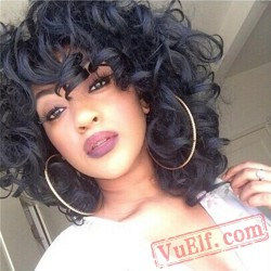 Black Women Short Curly Wigs