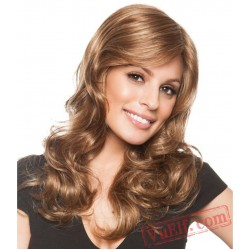 Brown Long Curly Wigs for Women