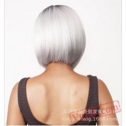 Black & White Short Wigs for Women