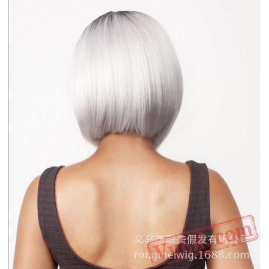 Black & White Short Wigs for Women