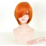 Orange Short Lolita Wigs for Women