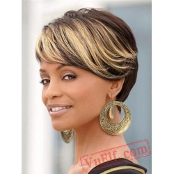 Fashion Short Curly Gold Wigs for Women