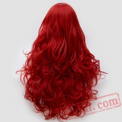 Long Curly Fluffy Red Cosplay Women Wigs Black Purple Pink Silver White