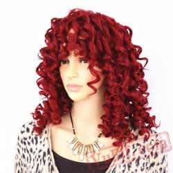 Short Kinky Curly Hair Wigs Medium Red Black Blonde Women Wigs