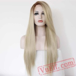 Blonde Lace Front Wig Long Straight Wigs Women