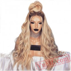 Blonde Lace Front Wavy Wigs Women