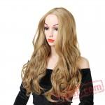 Women's Long Curly Wavy Blond Wig