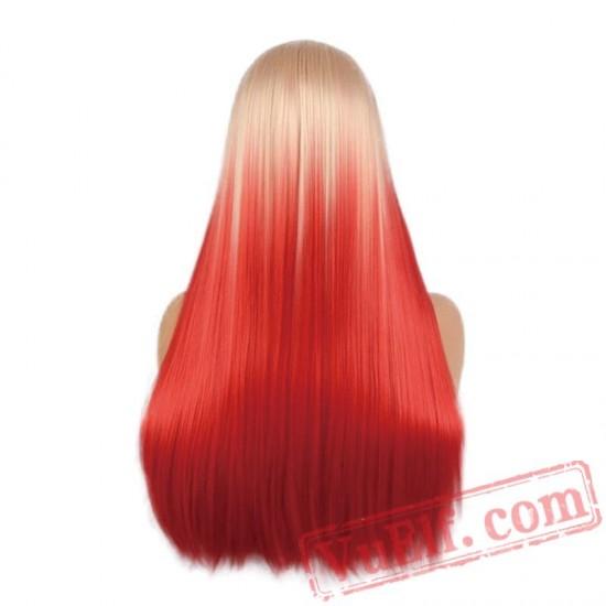Blonde Wig Black Women Long Straight Cosplay Wig