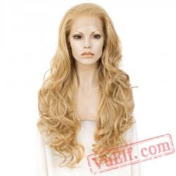 Lace Front Wigs Long Wavy Blonde Wigs Women Lace Wig