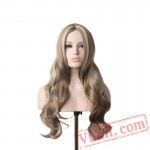 Womens Wigs Blonde Long Wig Curly Wigs Women Heat Resistant
