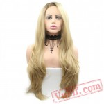 Brown Blonde Wig Wave Wig Natural Lace Front Wig Women