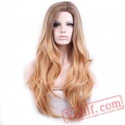 Blonde Wig Women Colour Nature Wave Hair