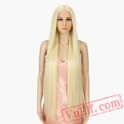 Lace Front Women Supper Long Blond Hair Wigs
