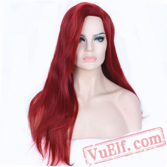 Beauty Women's Cosplay Red Wig Long Straight Full Wigs