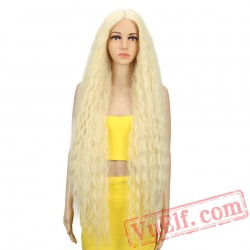 Lace Front Long Curly Blonde Women Wigs