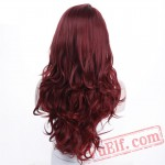 Long Wavy Curly Red Wig Wig Women Long Wavy Cosplay Party Wig