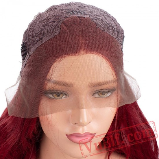 Lace Front Wig 150% Red Wig Wavy Lace Wig Hair Women