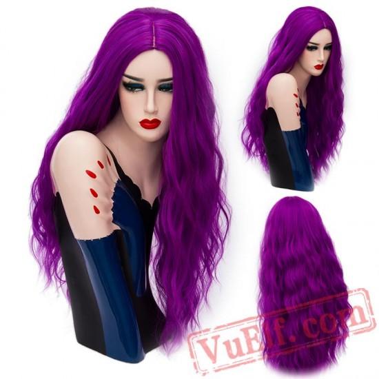 Long Wavy Wigs Cosplay Natural Women' s Blonde Wig Full Hair