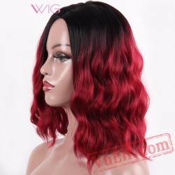 Curly Wigs Red Black Women Wig African America Fluffy Hair