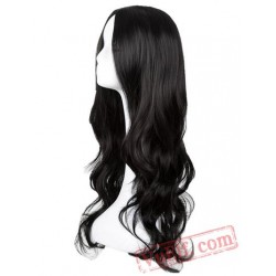 Black Wig Long Curly Middle line Hair Cosplay Women