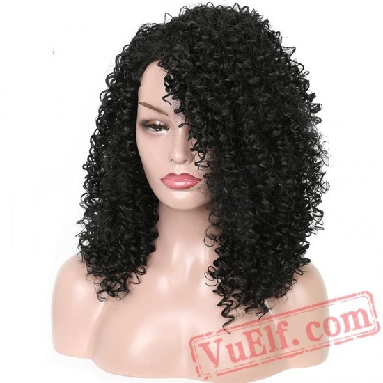 Long Curly Black Hair Wigs Black Women Brown