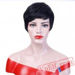 Short Black Wigs Women Natural Straight Wigs Cosplay Wigs