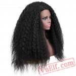 beauty Lace Front Wig Long Kinky Curly Black Wigs Women