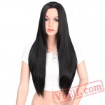 beauty Long Black Wig Straight Wig Hair Women Cosplay
