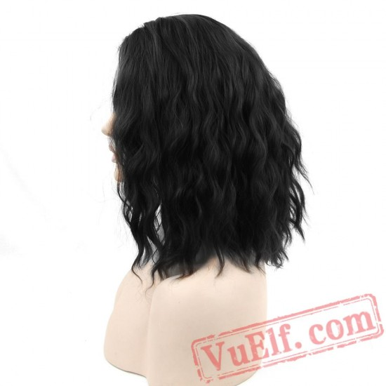 Cosplay Wig Curly BOBO Black Wigs Short Women Party Hair