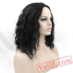 Cosplay Curly BOBO Black Wigs Short Women Party Hair