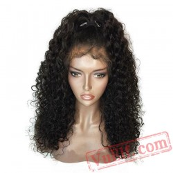 Black Lace Front Wig Baby Hair Curly Wigs Women