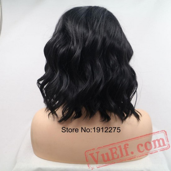 Short Black Curly Wigs Women Lace Front Wig Hair Natural Wigs