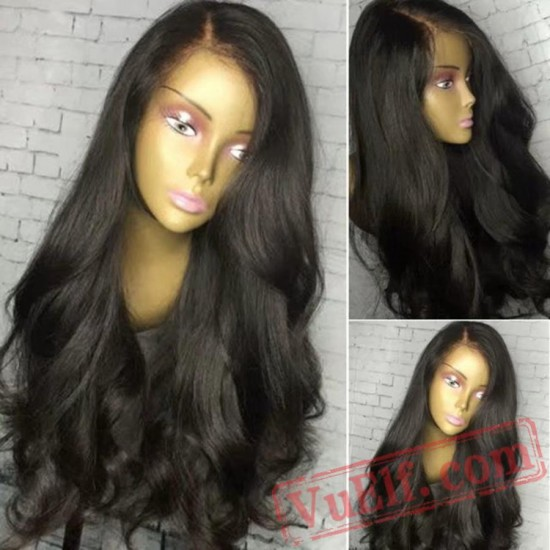 Long Black Wig Wave Lace Front Wig Natural Wigs Black Women