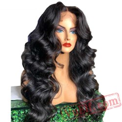 Lace Front Human Hair Wigs Black Women Loose