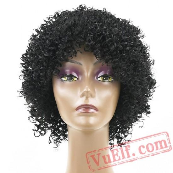 Kinky Curly Short Black Wigs Black Women Afro Wig