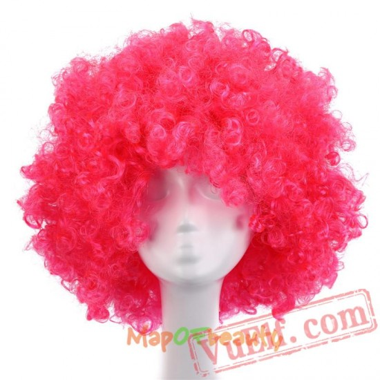 Beauty Afro Wig Kinky Curly Hair Black White Bobo Wigs Cosplay