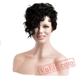 Kinky Curly Wig Hair Short Black Wigs Hair African American