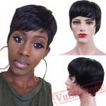 Short Black Wigs Women Natural Straight Wigs Women Hair