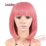 Straight Short Bob Wig Women Cosplay Pink Cosplay Wigs Hair