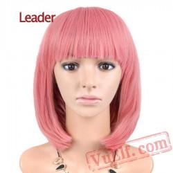 Straight Short Bob Wig Women Cosplay Pink Cosplay Wigs Hair
