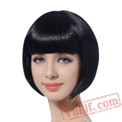 Short Straight Cosplay Bob Women Wig Hair Pink Cosplay Party Halloween Wigs