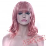 Short Curly Hair Pink Wigs Black Brown Red Cosplay Wig Women