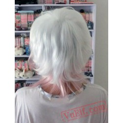 Diabolik Lovers Short White Pink Wig Cosplay Wig