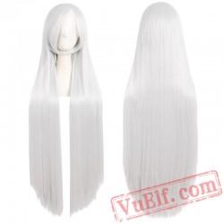 Long Straight Hair Blonde Black Pink Red Cosplay Ladies Wigs