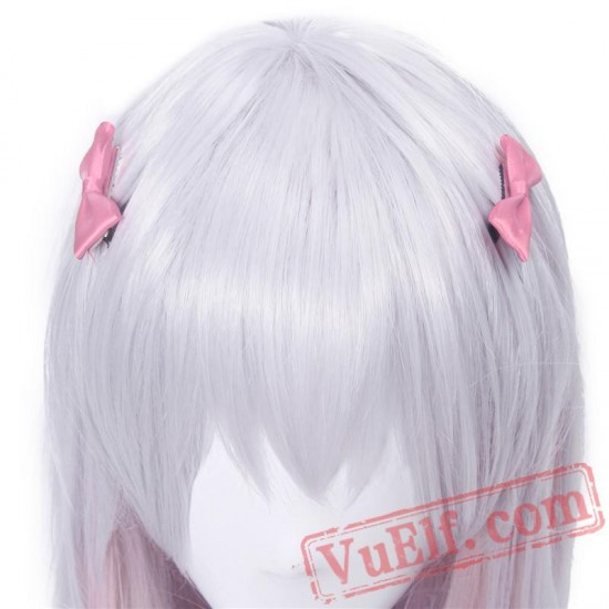 Eromanga Sensei Sagiri Izumi Cosplay Wigs Silver Mixed Pink Hair Cosplay Wig