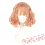 Japan South Korea Wig Air Bang Harajuku Pink Gold Cosplay Wig