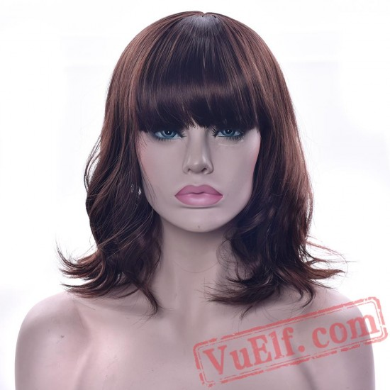 Green Blonde Hair Wis Pink Brown Party Cosplay Wigs Women