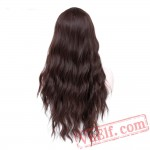 Blue Wig Cosplay Long Black Pink Grey Bodywave Hair Women
