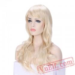 Long loose wave Cosplay Wigs Blonde Women Wig cosplay