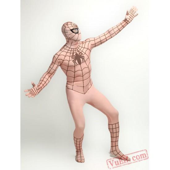 Flesh Spiderman Zentai Suit - Spandex BodySuit   Costumes